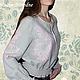 Костюм с ручной вышивкой Осенний Блюз 2.\r\nМодная одежда с ручной вышивкой. \r\nТворческое ателье Modne-Narodne.