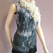 """Одежда ручной работы. Ярмарка Мастеров - ручная работа Жилет валяный """"Туманный Альбион"""". Handmade."""