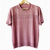 Одежда handmade. Livemaster - original item Blouse summer knitted from viscose. Handmade.