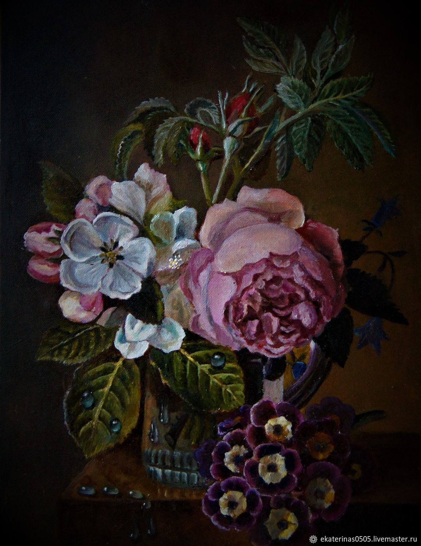 Розочка и цветущая яблоня, Картины, Москва,  Фото №1