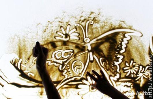 Детские аксессуары ручной работы. Ярмарка Мастеров - ручная работа. Купить Стол для рисования песком. Handmade. Черный, подарки, стекло