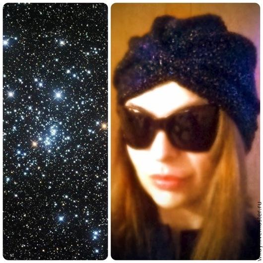 """Шапки ручной работы. Ярмарка Мастеров - ручная работа. Купить Шапка чалма """"Звёздное небо"""" / Starry sky. Handmade."""