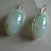Элегантные серьги ХРИЗОПРАЗ,серебро 925.