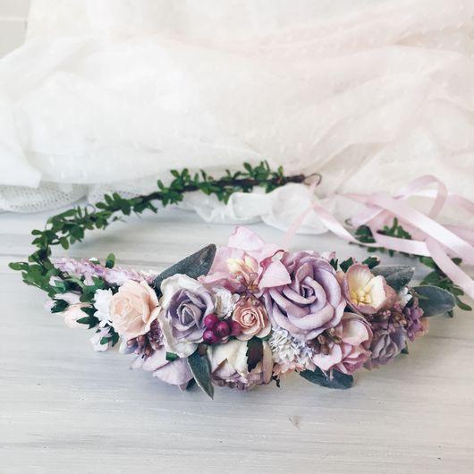 Диадемы, обручи ручной работы. Ярмарка Мастеров - ручная работа. Купить Венок на голову Flowers and berries. Handmade. Флора