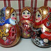 Русский стиль handmade. Livemaster - original item Tumbler matryoshka by phone. Handmade.