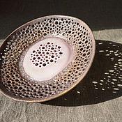 Посуда ручной работы. Ярмарка Мастеров - ручная работа Тарелка ажурная. Handmade.