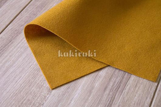 Валяние ручной работы. Ярмарка Мастеров - ручная работа. Купить Оранжево-коричневый мягкий корейский фетр. Handmade. Фетр