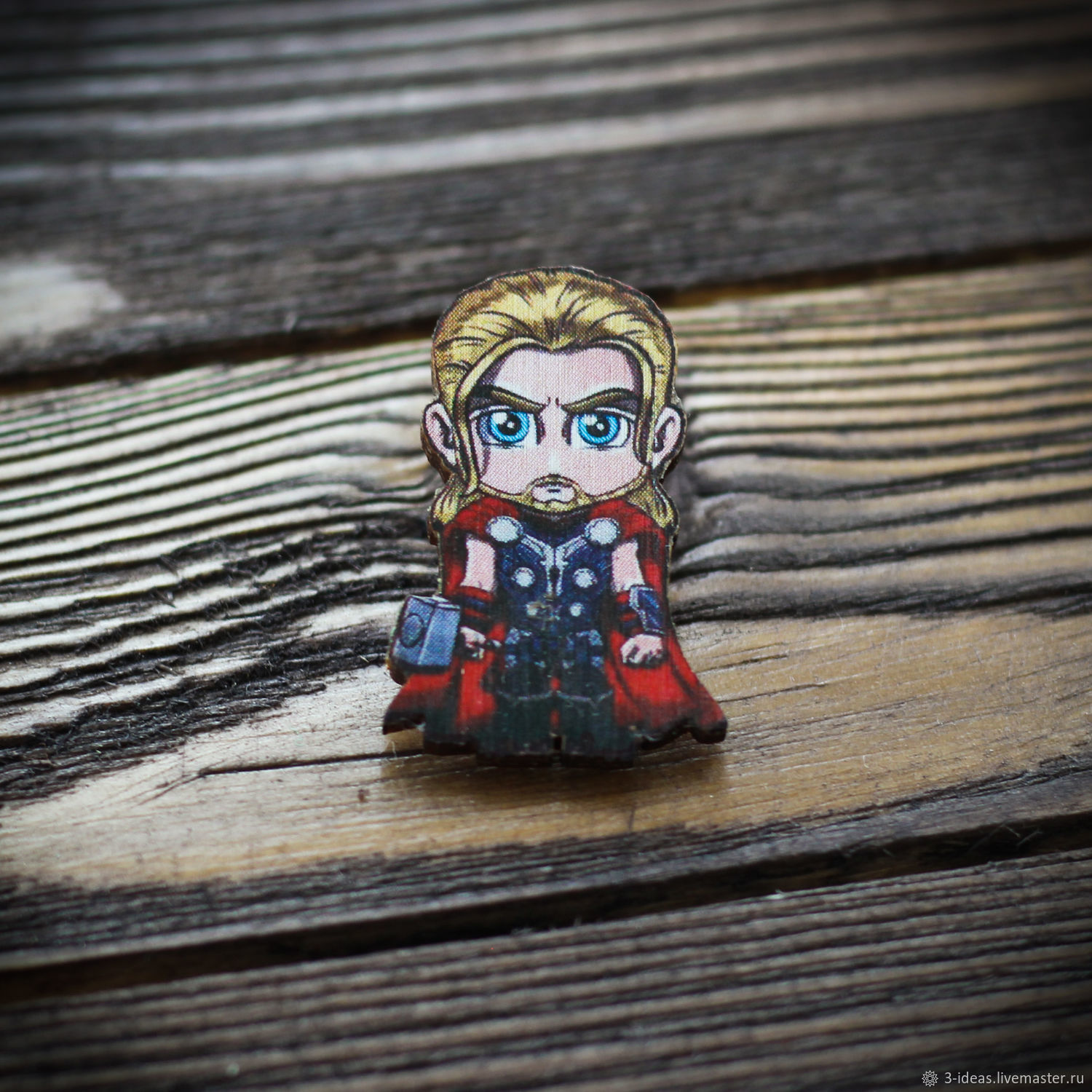 Wooden icon and Thor is made of 3mm birch plywood. Mounting method - Euroblock. Bright colors and reliable clasp will please any owner. The image is resistant to scratches.