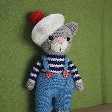 Куклы и игрушки ручной работы. Ярмарка Мастеров - ручная работа Игрушки: Кот- морячок. Handmade.
