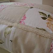 Винтажная лоскутная подушка