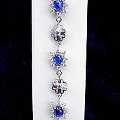 Браслет из бусин ручной работы. Ярмарка Мастеров - ручная работа Синева озер, браслет с натуральными сапфирами. Handmade.