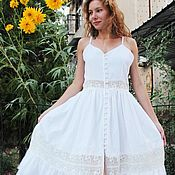 Одежда handmade. Livemaster - original item White summer dress