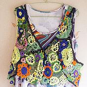 """Одежда ручной работы. Ярмарка Мастеров - ручная работа Вязаная кофта """"Листья Лета"""". Handmade."""