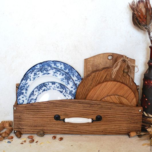 Кухня ручной работы. Ярмарка Мастеров - ручная работа. Купить TYUDOR короб-подставка из дуба. Handmade. Коричневый, кухня, воск