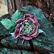 Украшения ручной работы. Ярмарка Мастеров - ручная работа Цветок из кожи. Handmade.