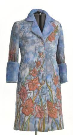 """Верхняя одежда ручной работы. Ярмарка Мастеров - ручная работа. Купить """"Орхидея"""". Handmade. Серый, стежка, утеплитель, шёлк натуральный"""