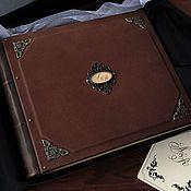 Фотоальбомы ручной работы. Ярмарка Мастеров - ручная работа Кожаный фотоальбом «Гардиан» 25х30 см. Handmade.
