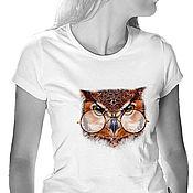 Одежда handmade. Livemaster - original item T-Shirt Owl. Handmade.