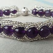 Фен-шуй и эзотерика handmade. Livemaster - original item Amethyst-in-silver bracelet. Handmade.