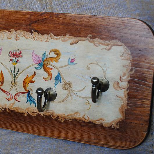 """Прихожая ручной работы. Ярмарка Мастеров - ручная работа. Купить Вешалка """"Старинная"""". Handmade. Вешалка, ручная роспись, вешалка для кухни"""