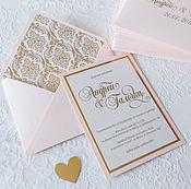 Свадебный салон ручной работы. Ярмарка Мастеров - ручная работа Приглашение в конверте. Handmade.
