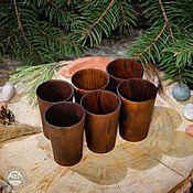 Посуда handmade. Livemaster - original item Wooden wine Glasses Set (6#2. Handmade.