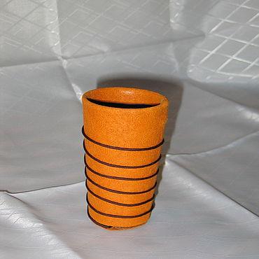 Канцелярские товары ручной работы. Ярмарка Мастеров - ручная работа Карандашницы: Стаканчик для карандашей. Handmade.