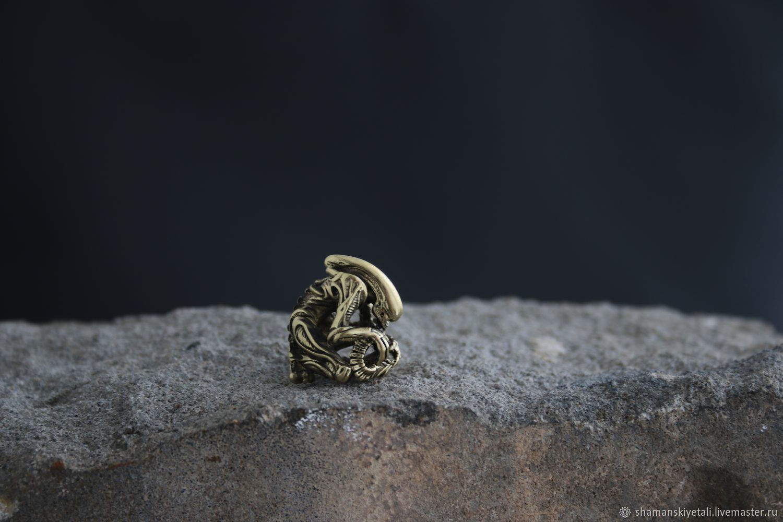 Bead for paracord alien,bead lanyard alien, Souvenir weapon, Volgograd,  Фото №1