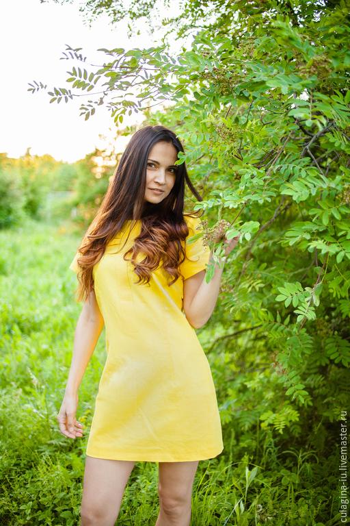 """Платья ручной работы. Ярмарка Мастеров - ручная работа. Купить .Льняное платье """"Солнечное"""". Handmade. Летнее платье, лен"""