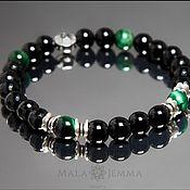 Украшения handmade. Livemaster - original item Bestseller! Men`s bracelet made of natural stones Onyx Tiger Eye. Handmade.
