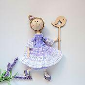 Куклы и игрушки ручной работы. Ярмарка Мастеров - ручная работа Кукла текстильная ЛаванДушка. Handmade.