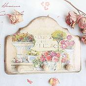 """Для дома и интерьера ручной работы. Ярмарка Мастеров - ручная работа Панно вешалка """"Maison des fleurs"""". Handmade."""