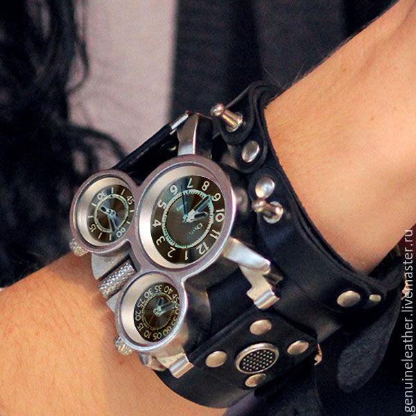 c9a1feb4f0bb Часы ручной работы. Ярмарка Мастеров - ручная работа. Купить Наручные часы  с кожаным браслетом ...