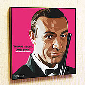 Картины и панно handmade. Livemaster - original item Picture poster James bond in the style of Pop Art. Handmade.