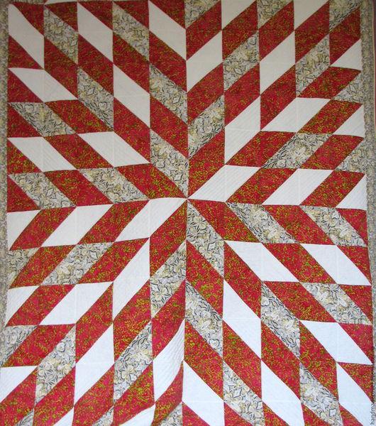 Текстиль, ковры ручной работы. Ярмарка Мастеров - ручная работа. Купить покрывало Звездные лучи. Handmade. Лоскутное одеяло