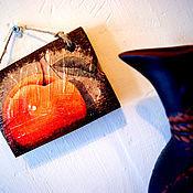 Для дома и интерьера ручной работы. Ярмарка Мастеров - ручная работа «Персик» панно дерево. Handmade.