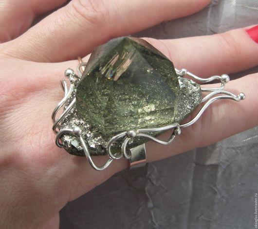 """Кольца ручной работы. Ярмарка Мастеров - ручная работа. Купить Кольцо """"Каменный Цветок"""" с Цитрином. Handmade. Лимонный, серебряный"""