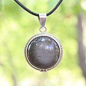 Украшения handmade. Livemaster - original item 925 Silver Obsidian Pendant SP0144. Handmade.