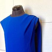 Одежда handmade. Livemaster - original item Blouse Sofya S. M. L,XL / crepe, blue. Handmade.
