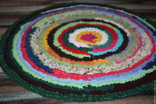 """Текстиль, ковры ручной работы. Ярмарка Мастеров - ручная работа. Купить Коврик вязаный крючком """"Ах деревня деревня"""". Handmade."""