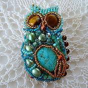 Украшения handmade. Livemaster - original item Brooch with stones and beads