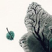 Картины и панно ручной работы. Ярмарка Мастеров - ручная работа Предзимье .Одинокий листок.. Handmade.