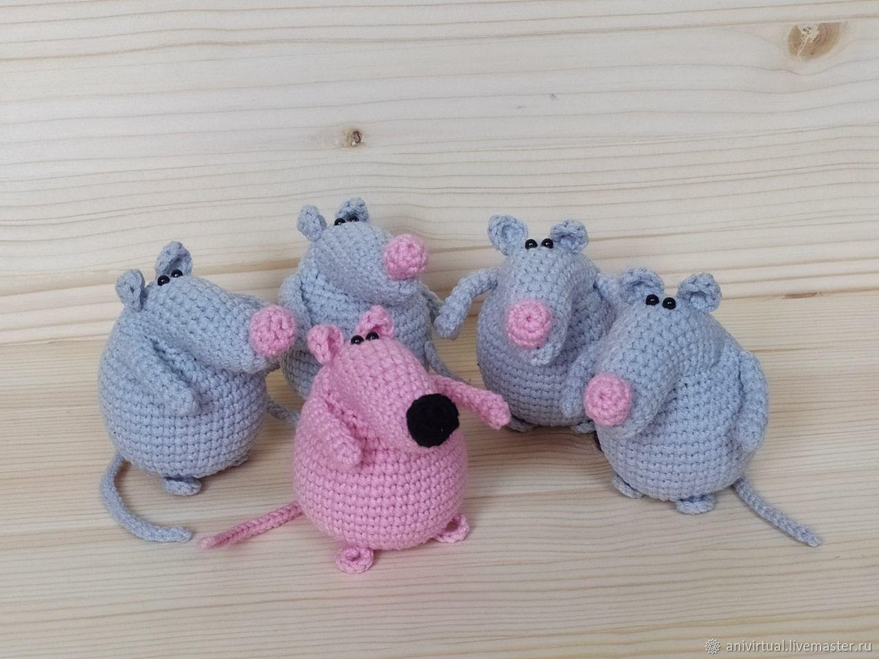 Крыса хозяйственная, Мягкие игрушки, Челябинск,  Фото №1