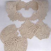 Аксессуары handmade. Livemaster - original item Collars: Set of lace details for the dress. Handmade.