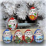 Русский стиль ручной работы. Ярмарка Мастеров - ручная работа Дед Мороз(магнит,яйцо). Handmade.