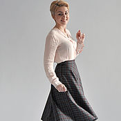 Одежда handmade. Livemaster - original item The plaid skirt MIDI. Handmade.