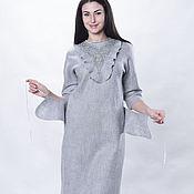 """Одежда ручной работы. Ярмарка Мастеров - ручная работа Комплект валяный """"Серый нескучный"""" платье и аксессуары. Handmade."""