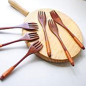 Посуда ручной работы. Ярмарка Мастеров - ручная работа Вилка деревянная. Handmade.