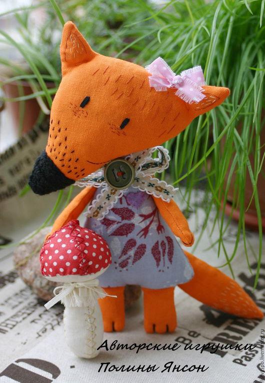 Игрушки животные, ручной работы. Ярмарка Мастеров - ручная работа. Купить Лисичка сестричка текстильная игрушка ручной работы. Handmade.