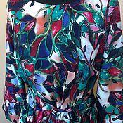 """Платья ручной работы. Ярмарка Мастеров - ручная работа Платье в пол  """"Изумруд `из штапеля. Handmade."""